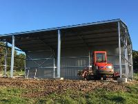 9 x 15 x 4.2 - 3 Bay Farm Hay + Machinery Shed - JE50  - Korumburra, South Gippsland