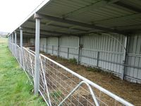 Animal Livestock Shed with Gates - Jumbunna Engineering