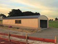 Curved Roof Garage - Bena - Jumbunna Engineering