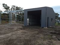 Custom Lockup + Open Bay Shed - Jumbunna Engineering