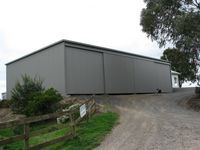 Custom Shed with Sliding Doors - Jumbunna Engineering, South Gippsland