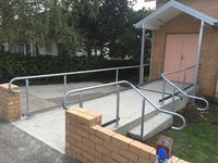 Handrail, Poowong Church - Jumbunna Engineering