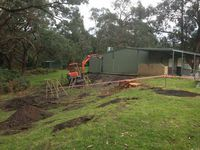 Shed Footings with Excavator - Outtrim